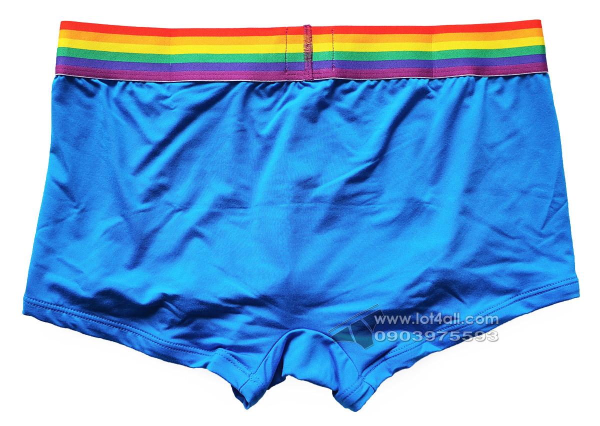 Quần lót nam Calvin Klein NB2204 Pride Micro Low Rise Trunk Blue
