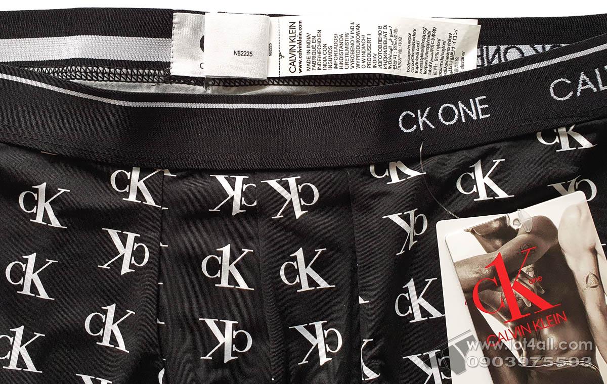 Quần lót nam Calvin Klein NB2225 CK One Micro Low Rise Trunk Staggered Logo Black