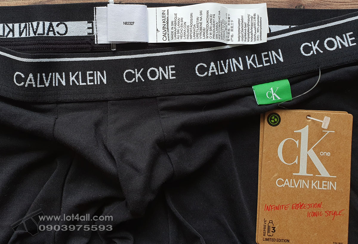 Quần lót nam Calvin Klein NB2327 CK One Recycled Trunk Black