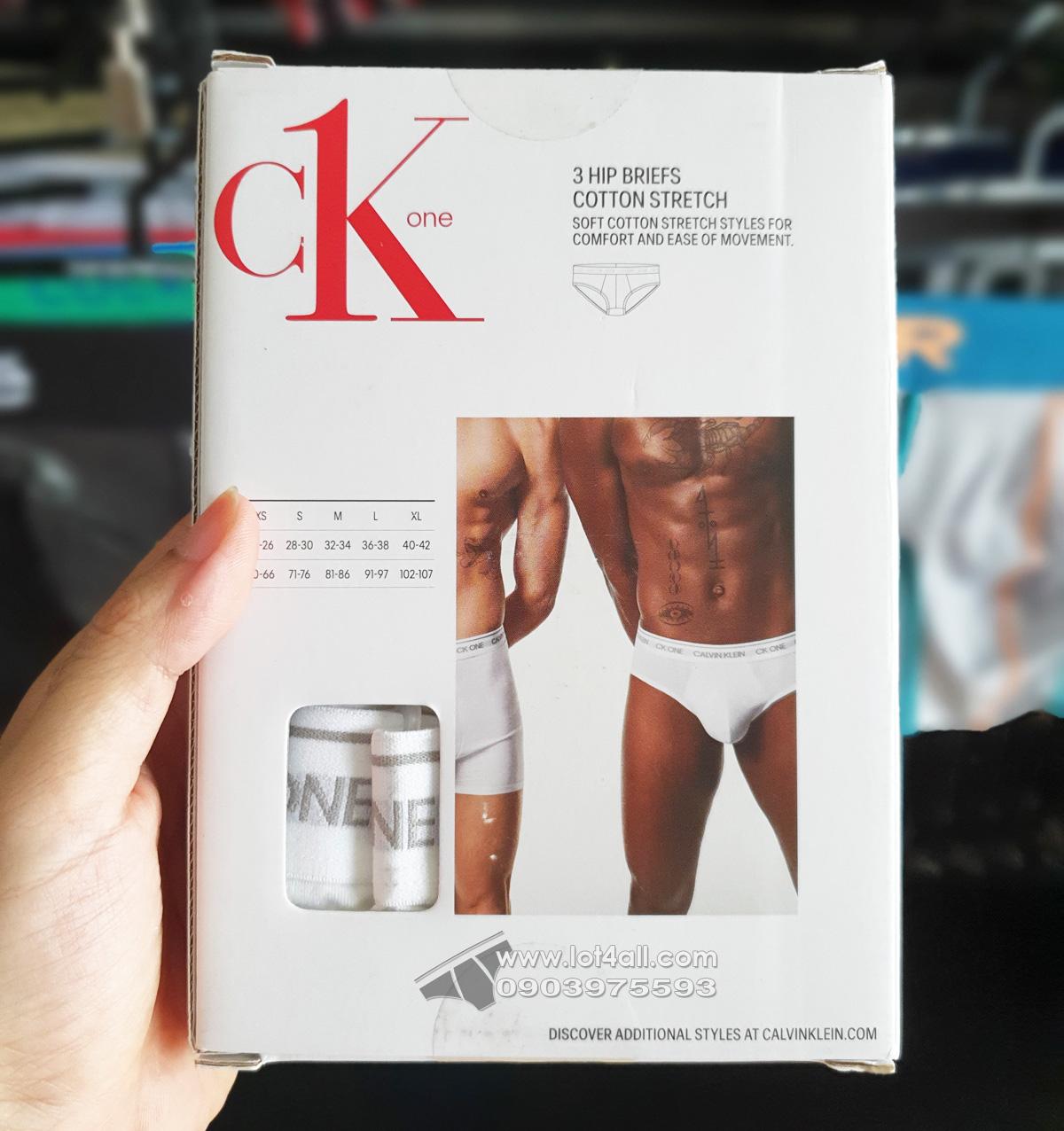 Quần lót nam Calvin Klein NB2405 CK One Cotton Hip Brief 3-pack White