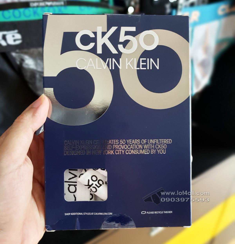 Quần lót nam Calvin Klein NB2513 Modern Cotton Stretch CK50 Logo Trunk White