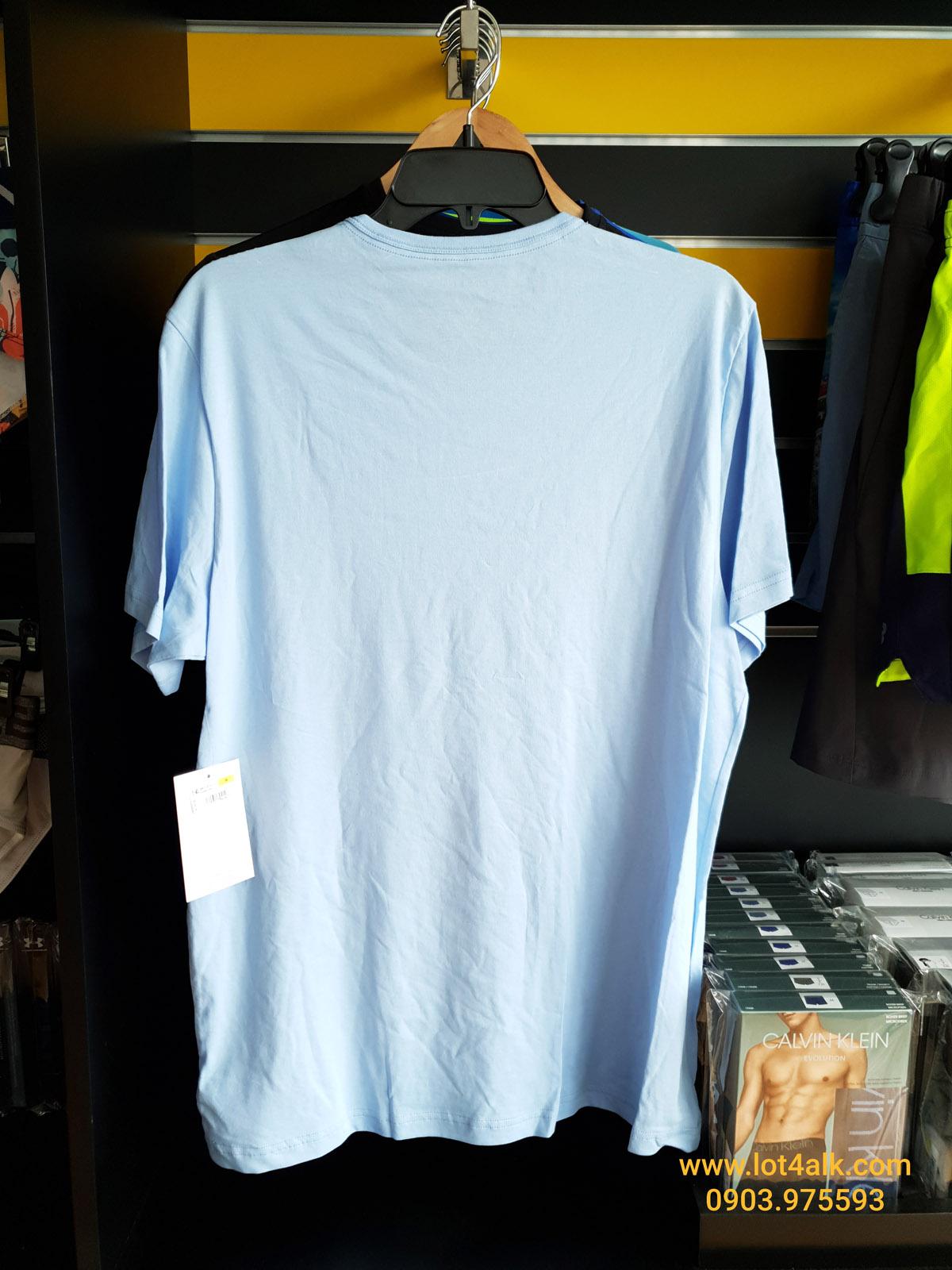 Áo thun nam Calvin Klein NM1576 Monogram Logo Crewneck T-Shirt Wedgewood