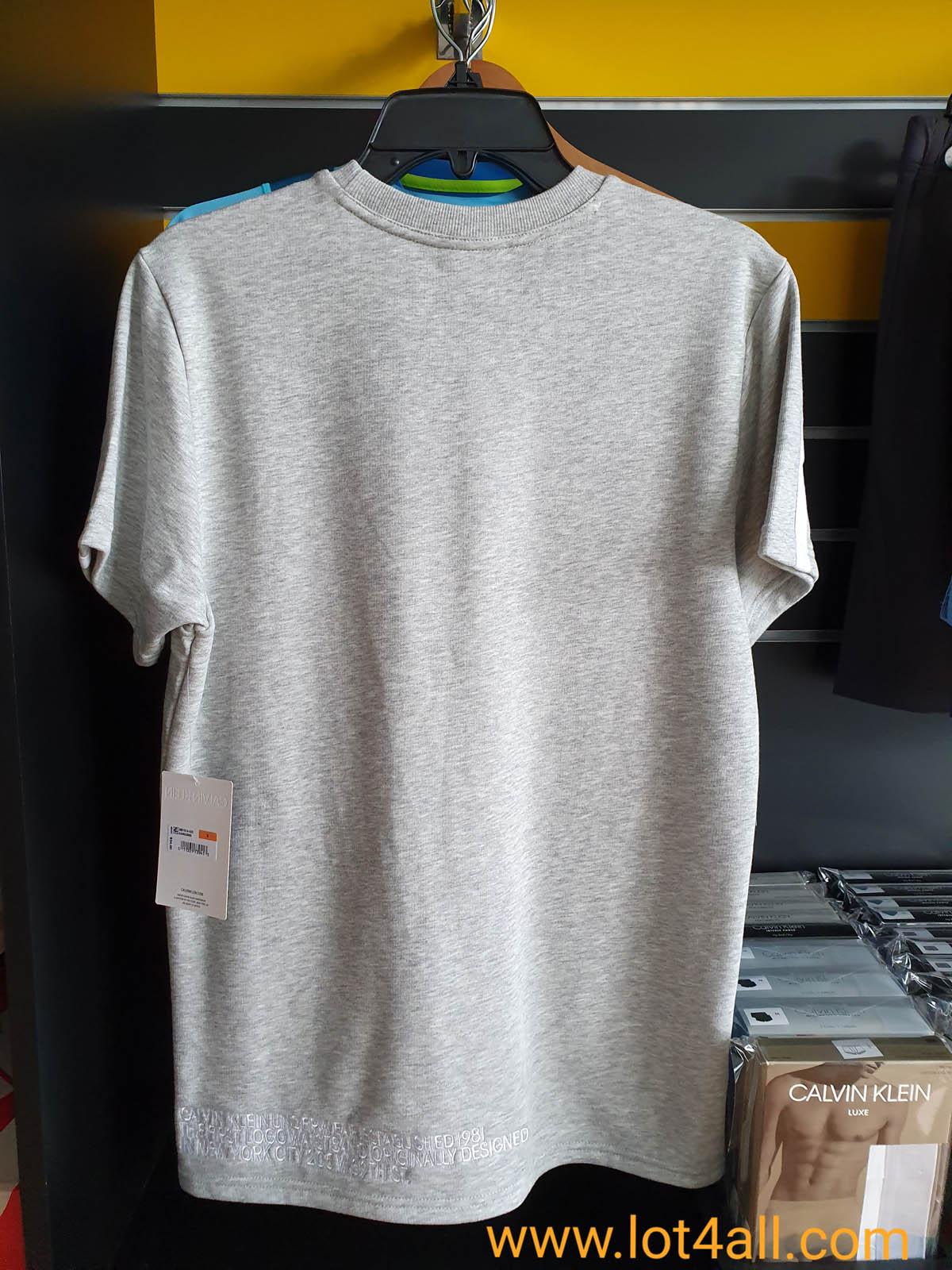Áo thun nam Calvin Klein NM1614 Statement Lounge Crewneck T-Shirt Grey Heather