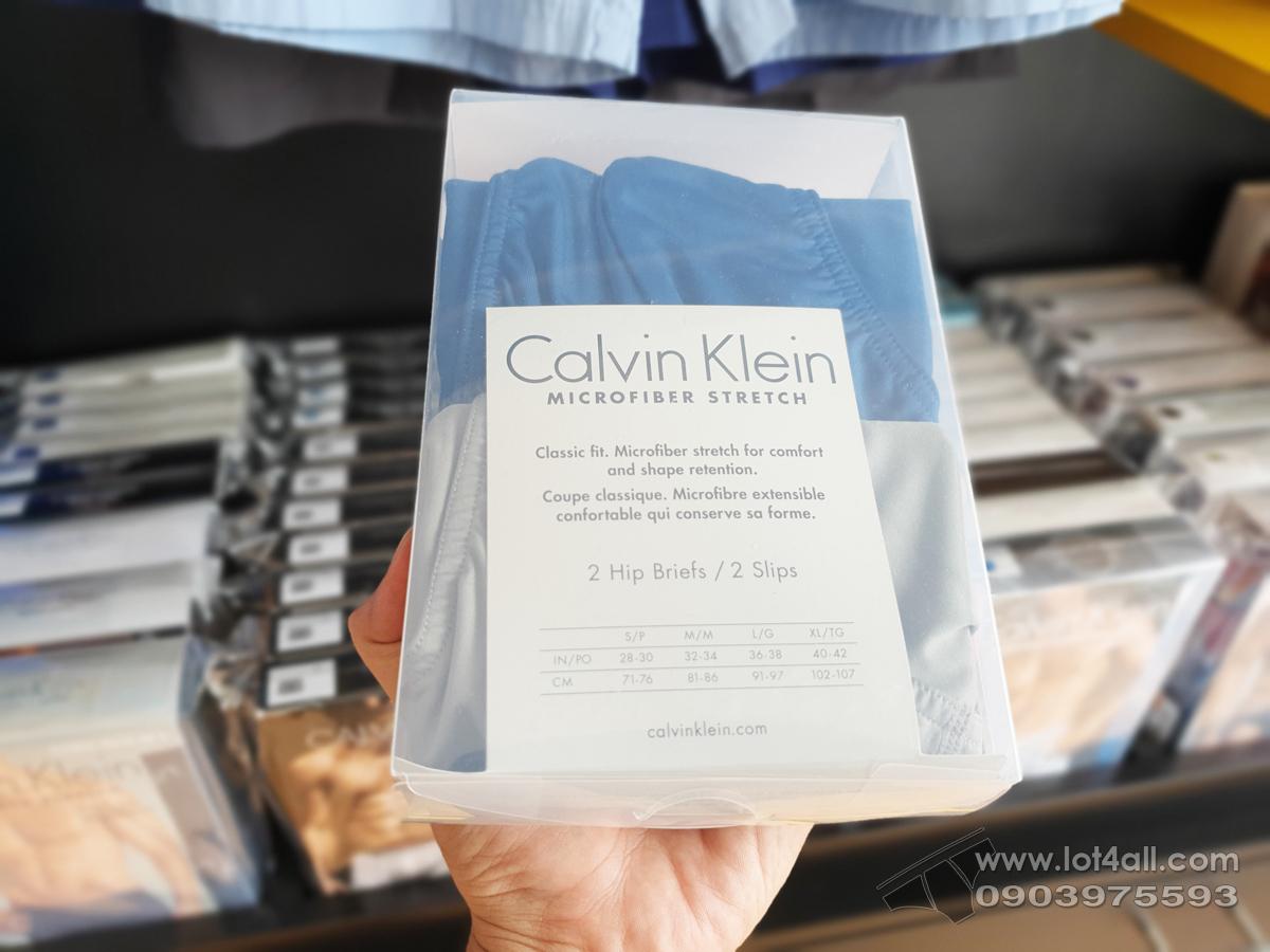 Quần lót Calvin Klein NP1906O Micro Stretch Hip Brief 2-pack Grey/Blue
