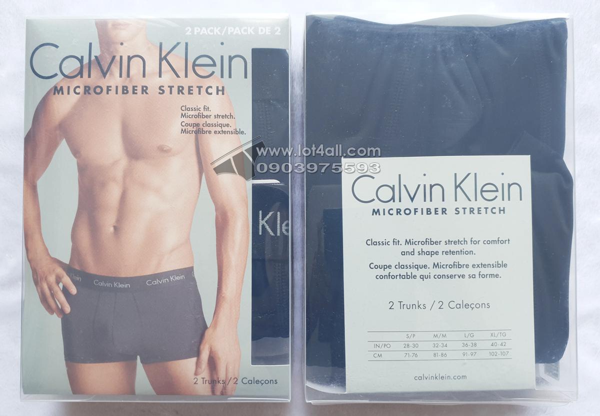 Quần lót nam Calvin Klein NP1907O Micro Stretch Trunk 2-pack Black