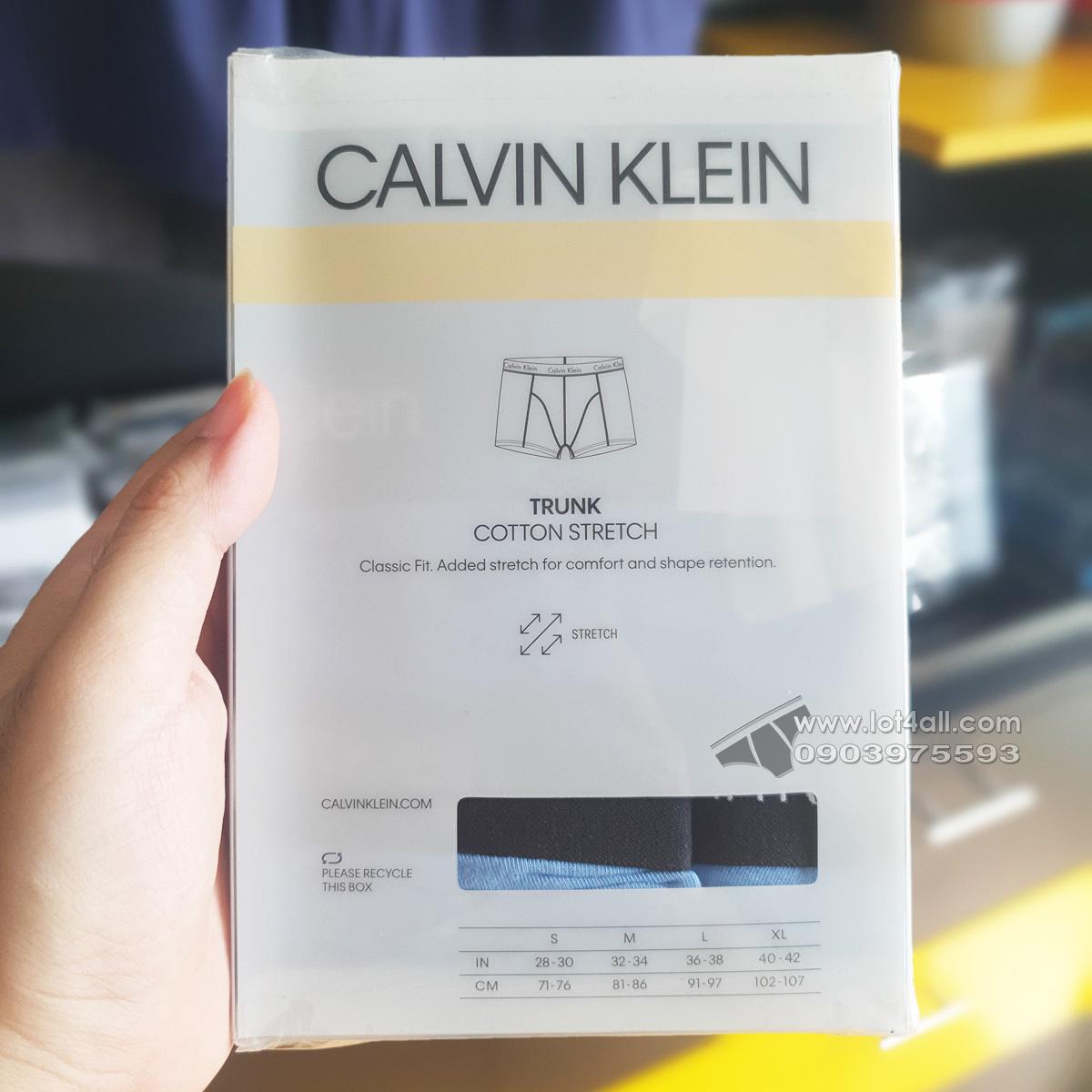 Quần lót nam Calvin Klein NP2167O Cotton Stretch Trunk Multi