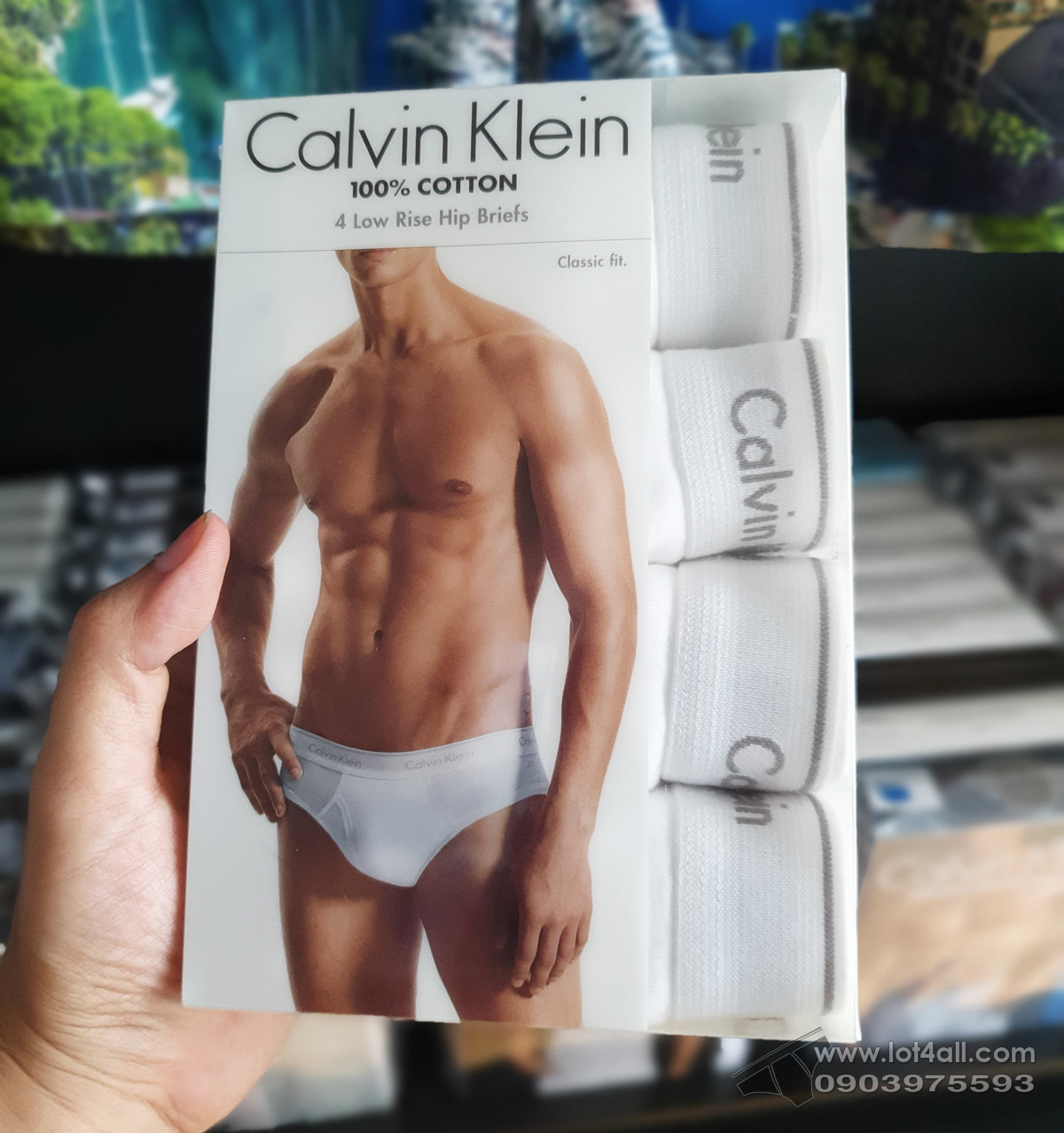 Quần lót Calvin Klein NP2173O Cotton Low Rise Brief 4-pack White