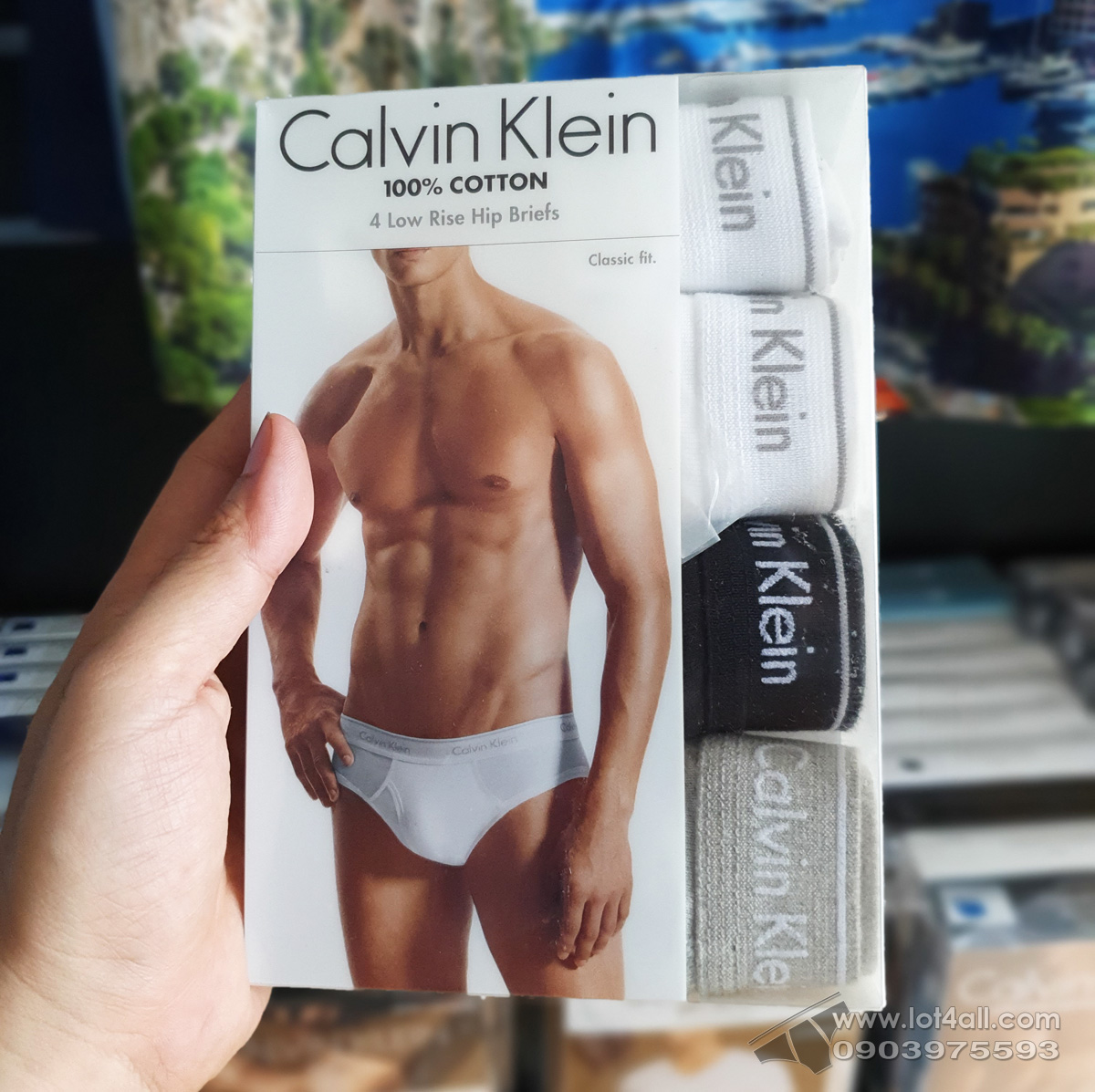 Quần lót Calvin Klein NP2173O Cotton Low Rise Brief 4-pack Black/Grey/White