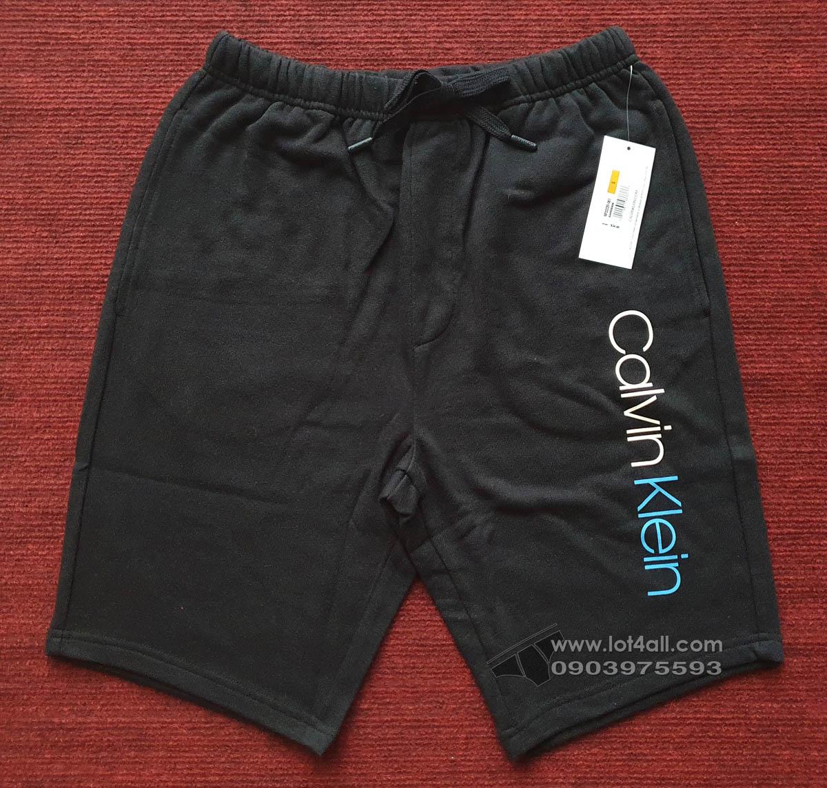 Quần short nam Calvin Klein NP2222O Contrast Logo Drawstring Black