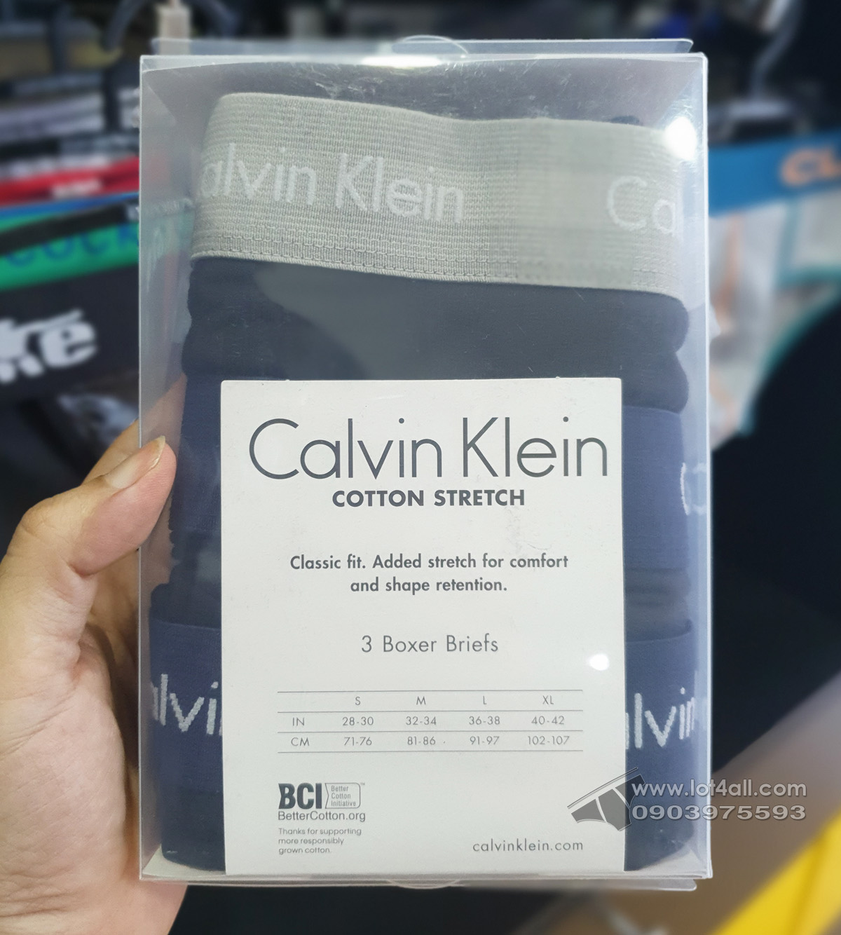 Quần lót nam Calvin Klein NU2666 Cotton Stretch Classic Boxer Brief Black