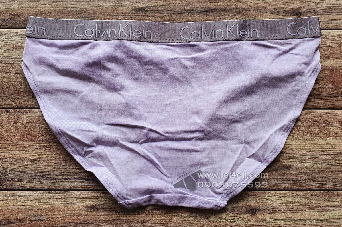 Quần lót nữ Calvin Klein QD3540 Logo Cotton Stretch Bikini Adrenaline