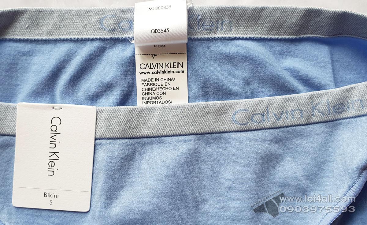 Quần lót nữ Calvin Klein QD3545 Pure Seamless Bikini Blue