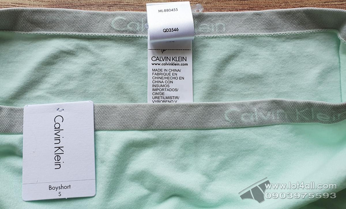 Quần lót nữ Calvin Klein QD3546 Pure Seamless Hipster Elysian Green