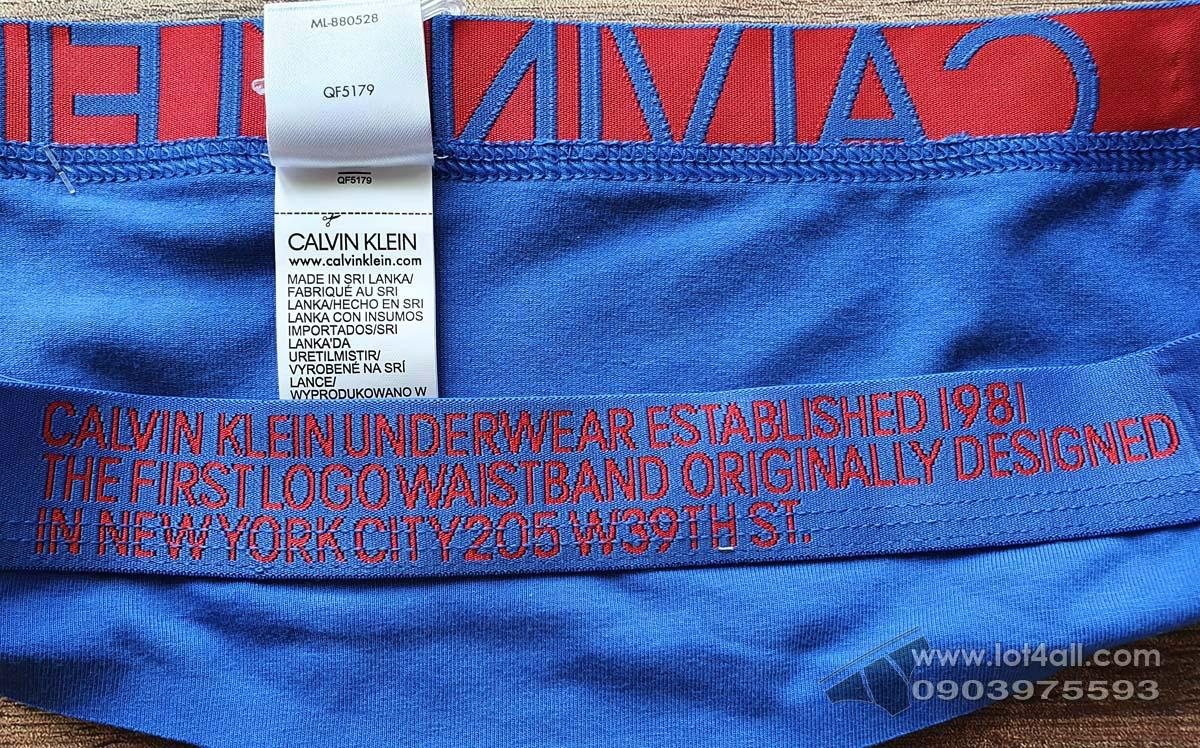 Quần lót nữ Calvin Klein QF5180 Statement 1981 Thong Stellar Blue