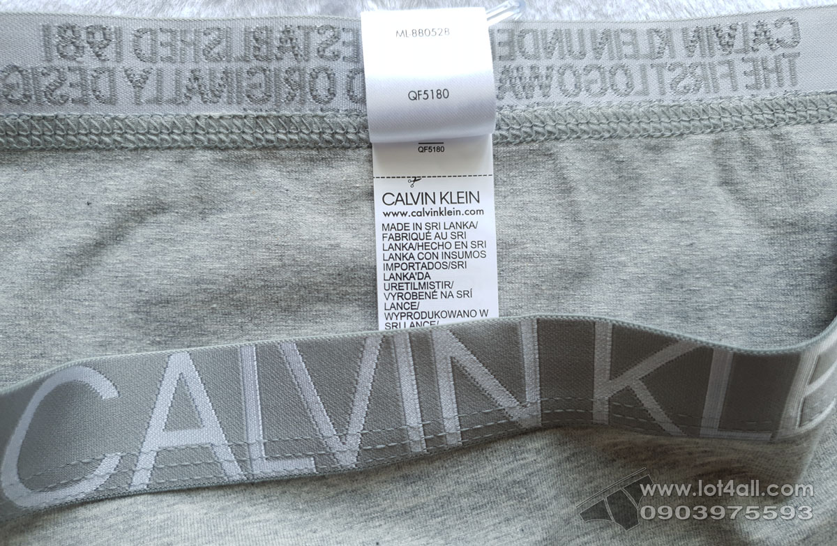 Quần lót nữ Calvin Klein QF5180 Statement 1981 Bikini Grey Heather