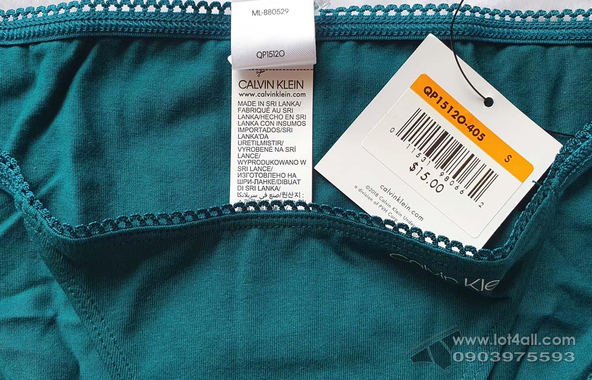 Quần lót nữ Calvin Klein QP1512O Logo Cotton String Bikini Teal Diamond