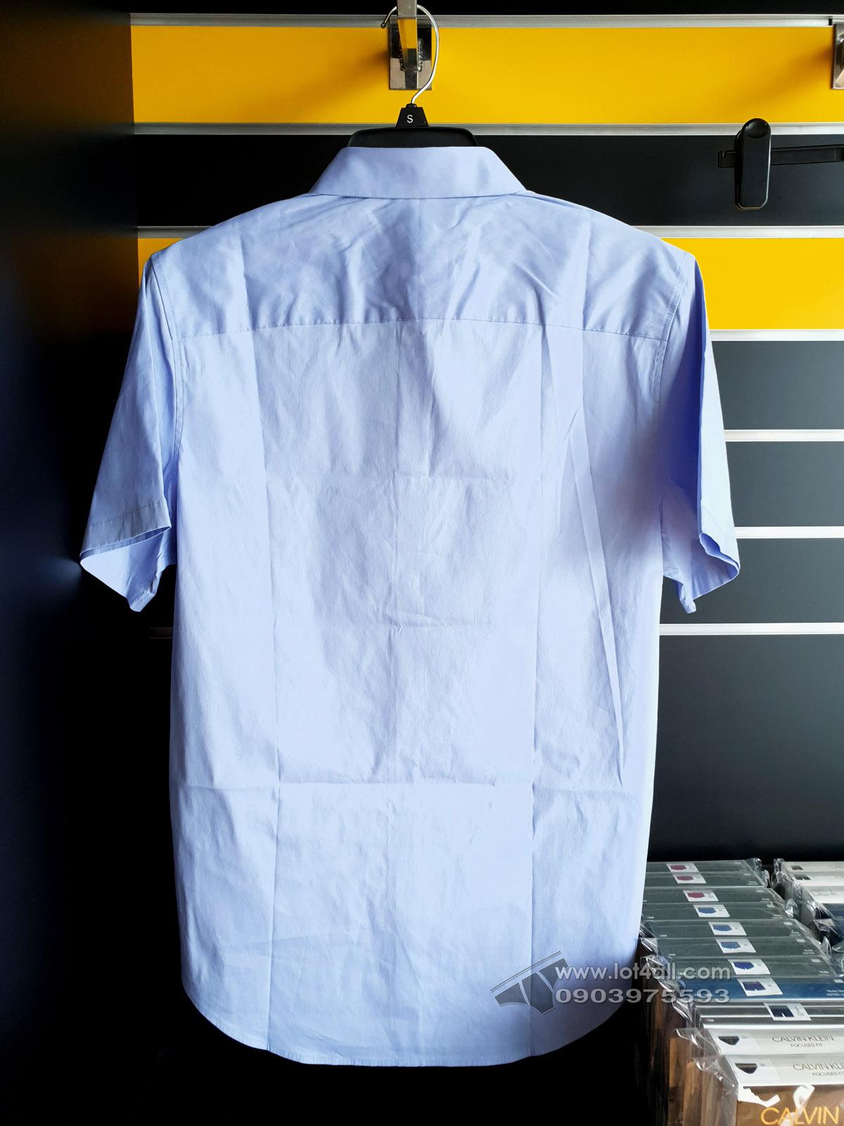 Áo sơ mi nam Calvin Klein Stretch Short Sleeve Sport Shirt Hail