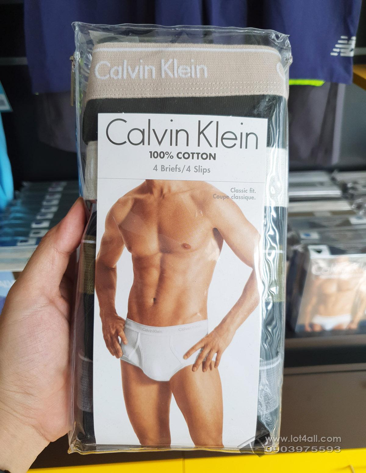 Quần lót Calvin Klein U4000-098 Cotton Classic Brief 4-pack Black
