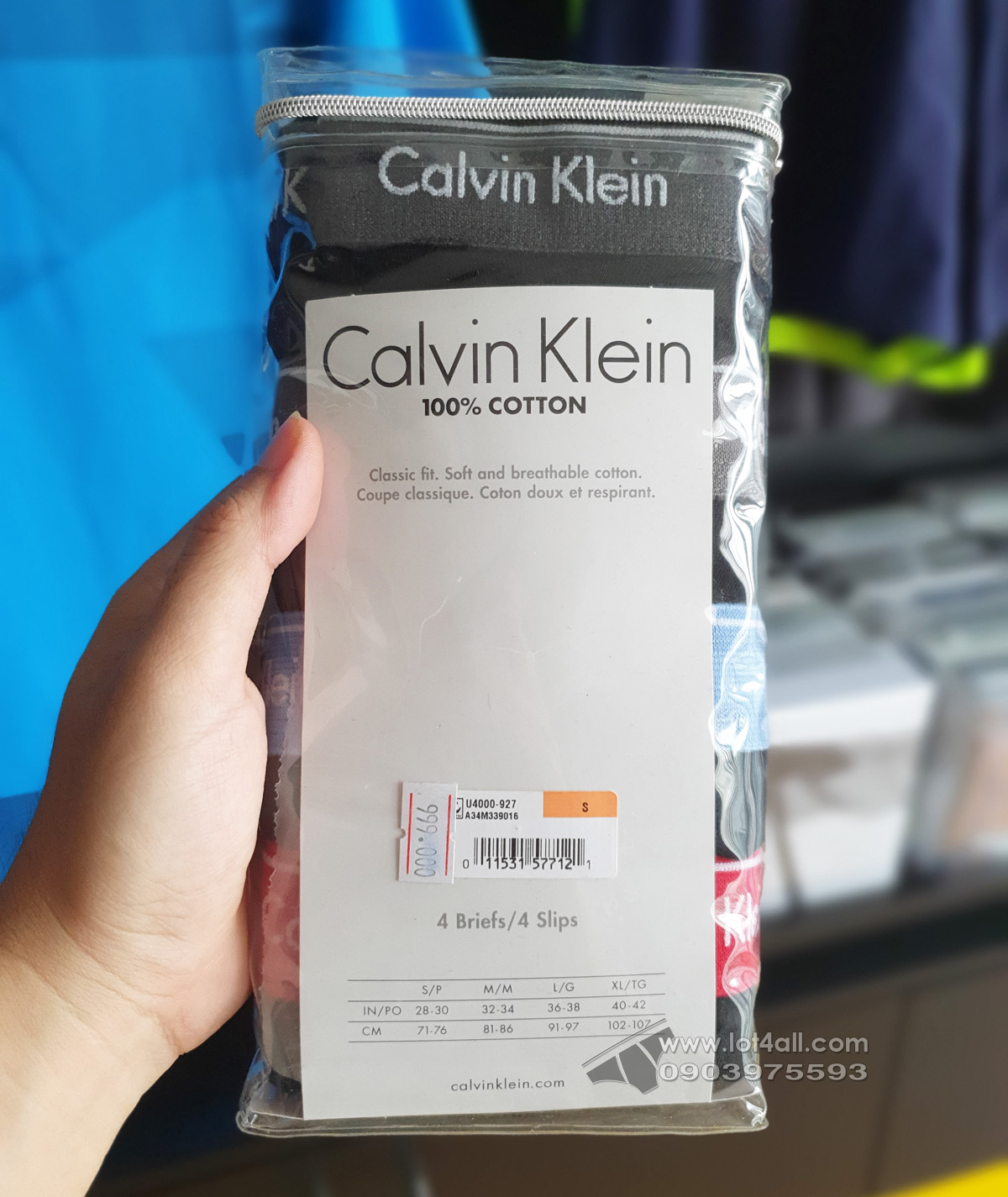 Quần lót Calvin Klein U4000-927 Cotton Classic Brief 4-pack Black