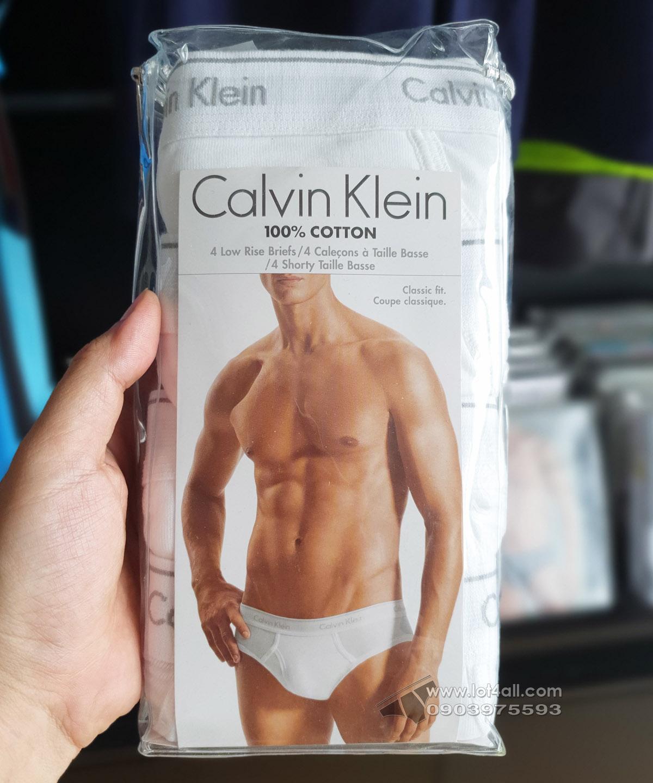 Quần lót Calvin Klein U4183 Cotton Low Rise Brief 4-pack White