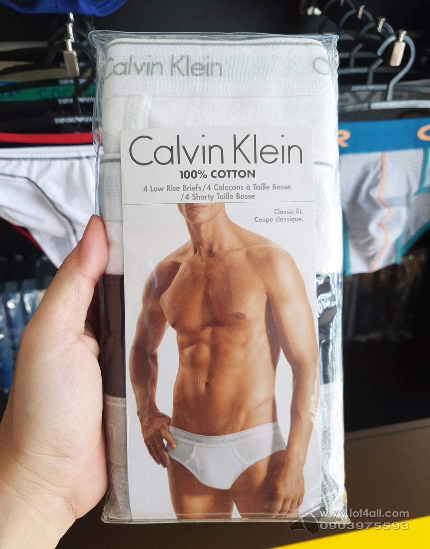 Quần lót Calvin Klein U4183 Cotton Low Rise Brief 4-pack Black/Grey/White