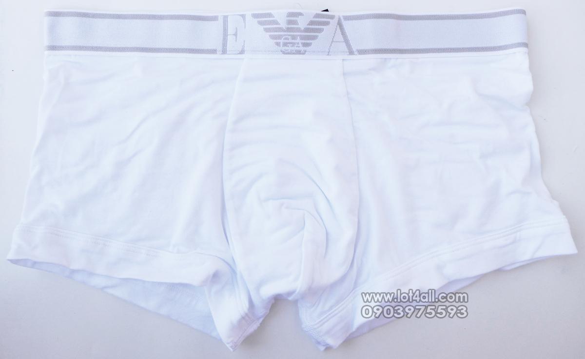 Quần lót cao cấp Emporio Armani Soft Cotton Trunk White