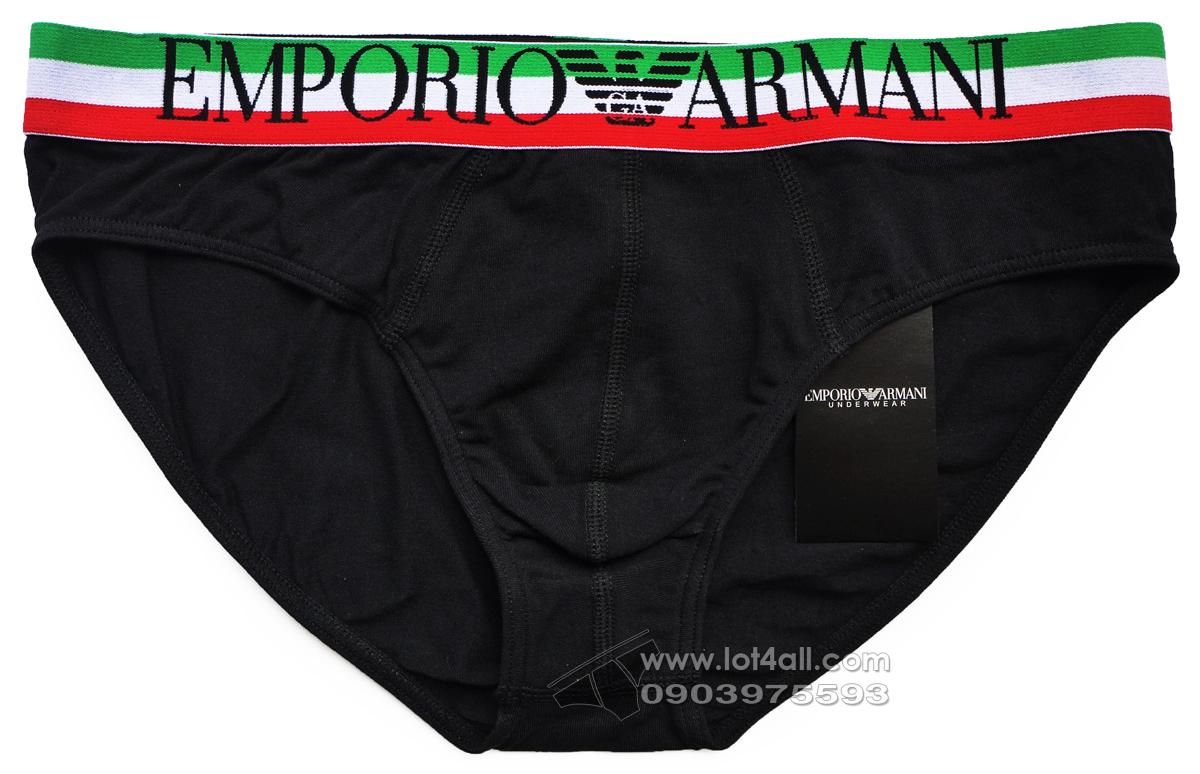 Quần lót nam Emporio Armani Italian Logo Waistband Brief Black