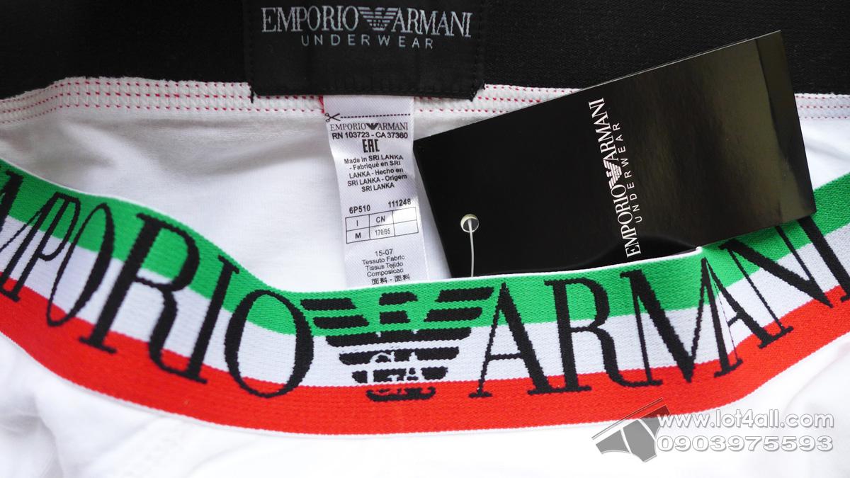 Quần lót nam Emporio Armani Italian Logo Waistband Brief White