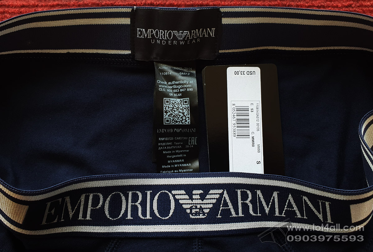 Quần lót nam Emporio Armani Shiny Logoband Brief Marine