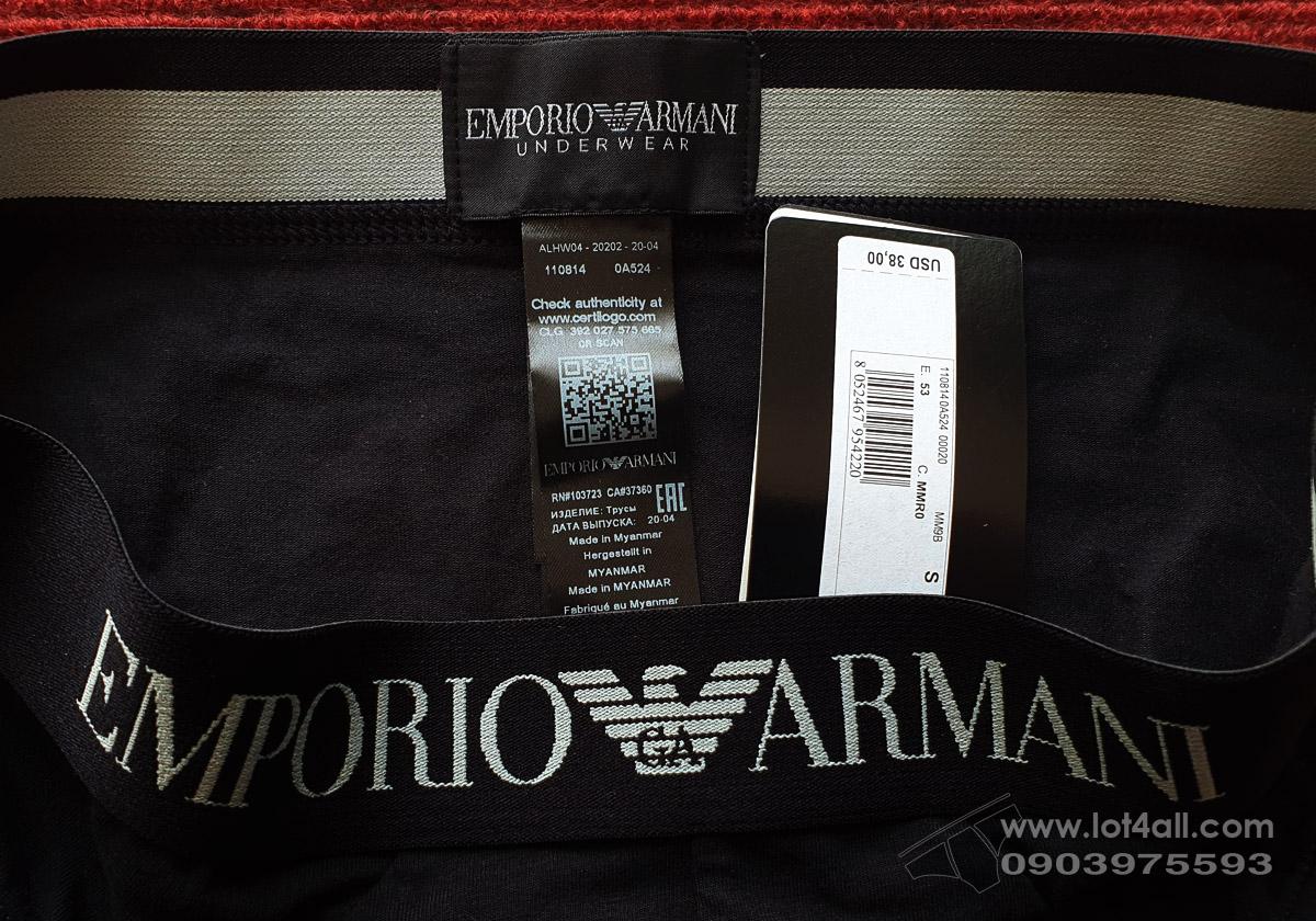 Quần lót nam Emporio Armani Organic Cotton Eagle Brief Black