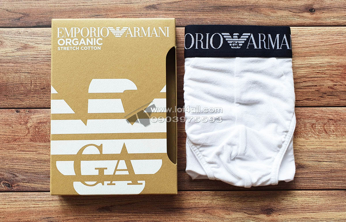 Quần lót nam Emporio Armani Organic Stretch Cotton Brief White