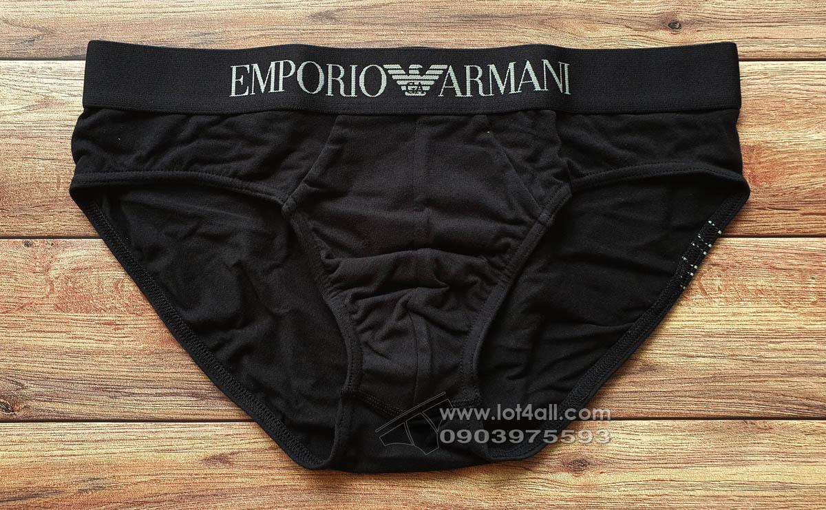 Quần lót nam Emporio Armani Organic Stretch Cotton Brief Black