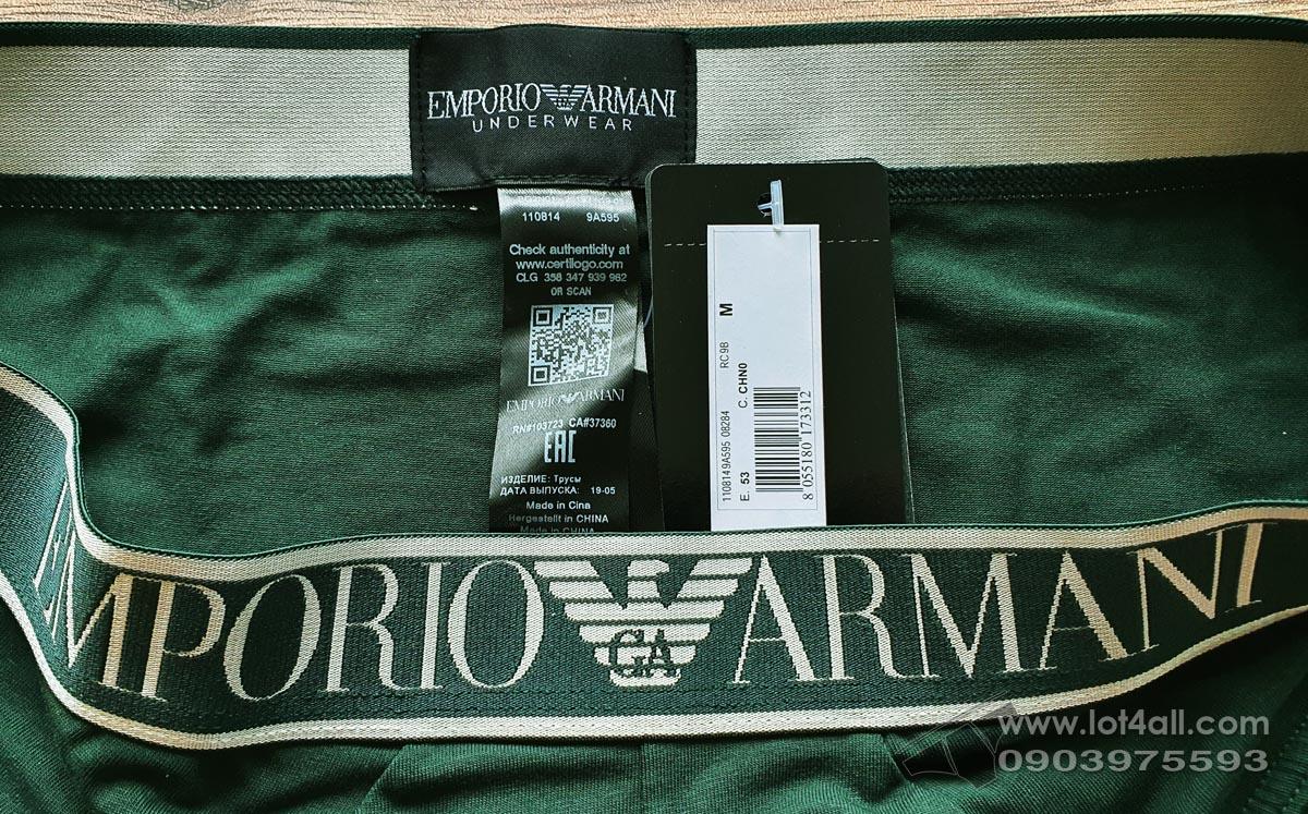 Quần lót nam Emporio Armani Big Eagle Logo Stretch Cotton Brief Beetle