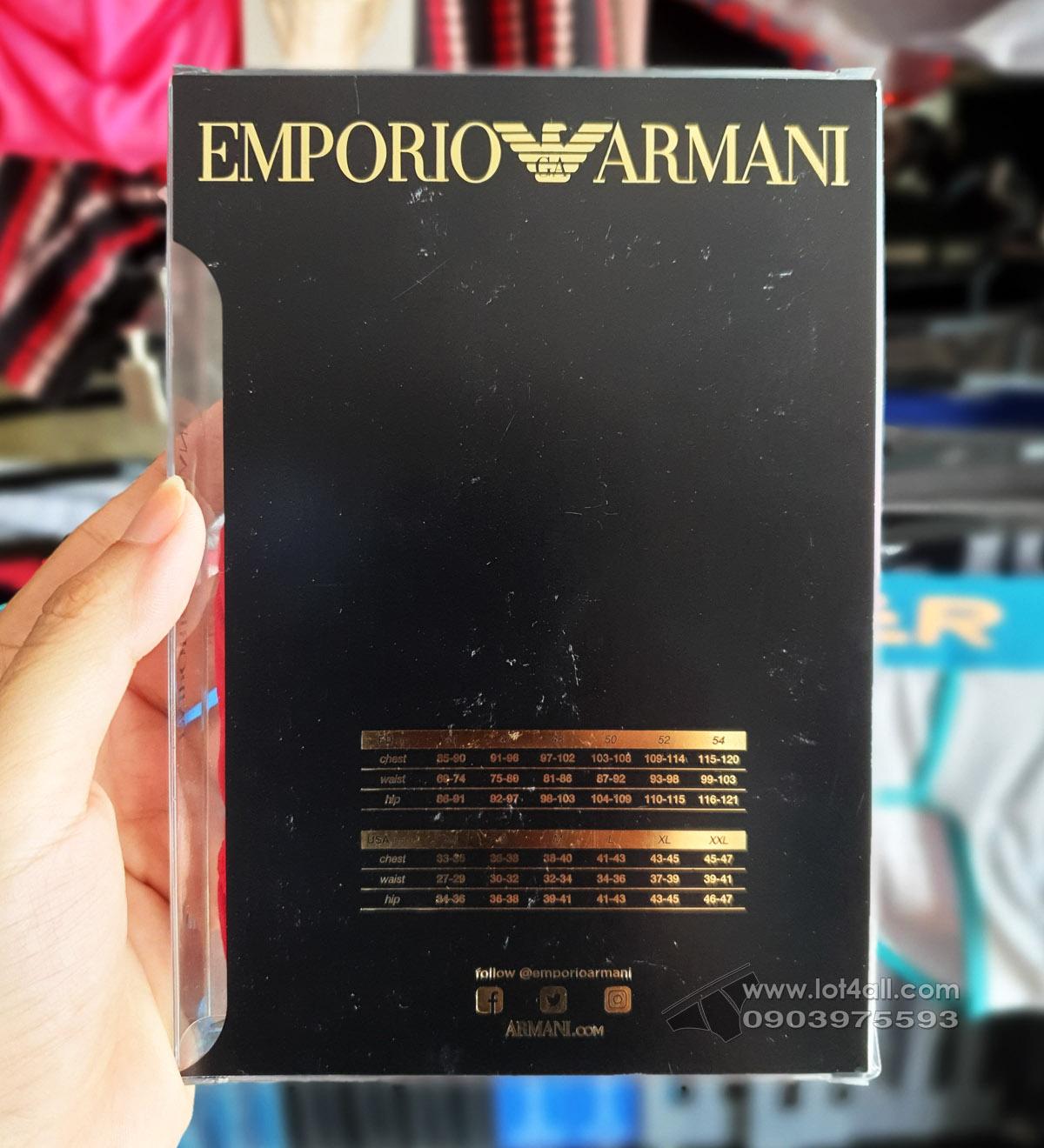 Quần lót nam Emporio Armani Big Eagle Logo Stretch Cotton Brief Ruby