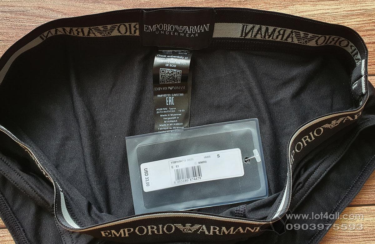 Quần lót nam Emporio Armani Essential Microfiber Brief Black