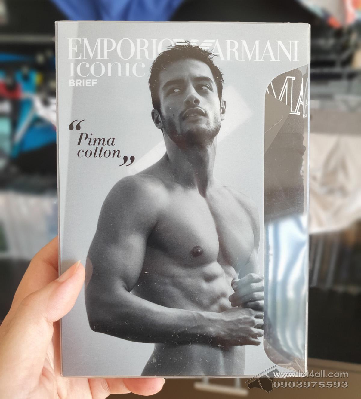 Quần lót nam Emporio Armani Pima Cotton Brief Black
