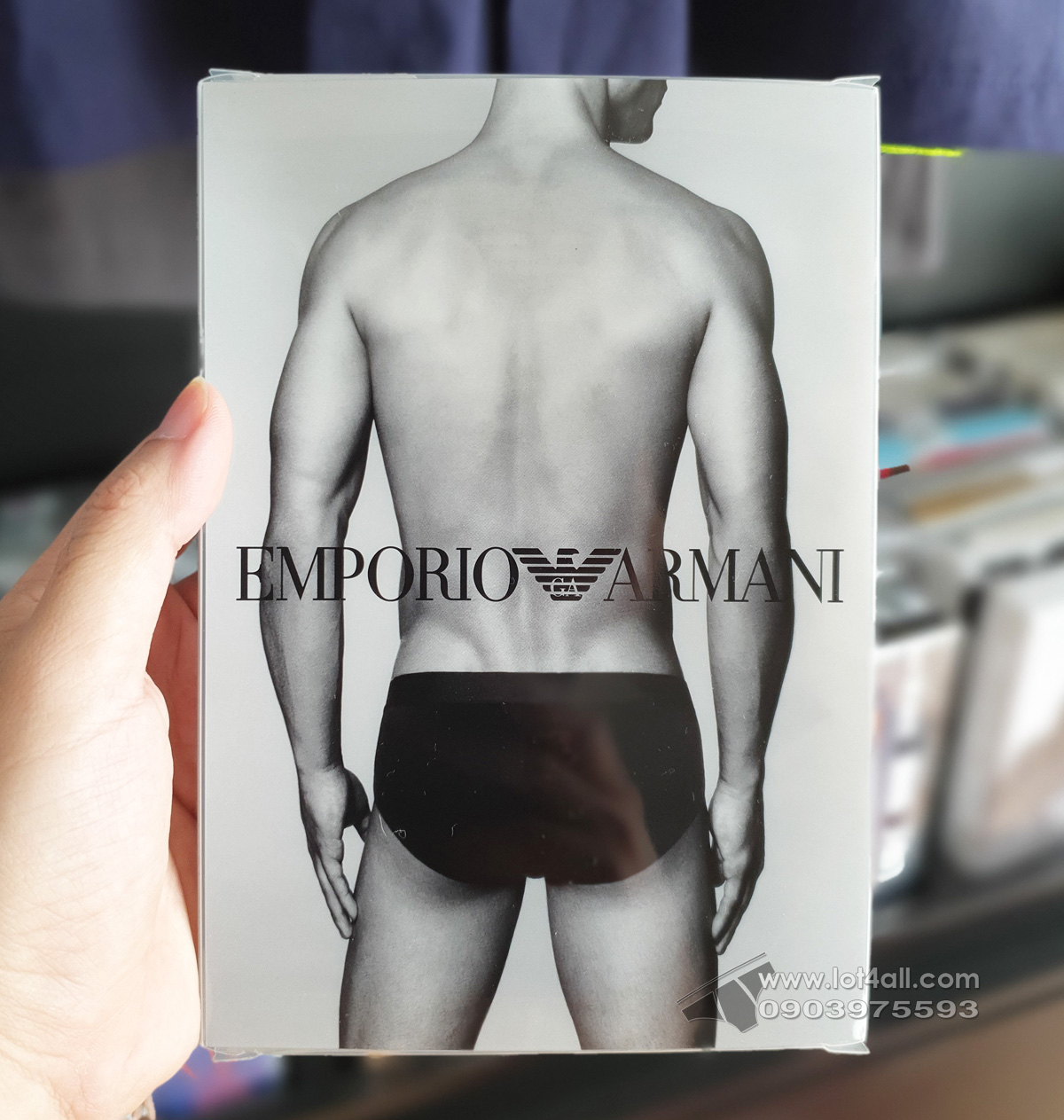 Quần lót nam Emporio Armani Stretch Cotton Brief Grey
