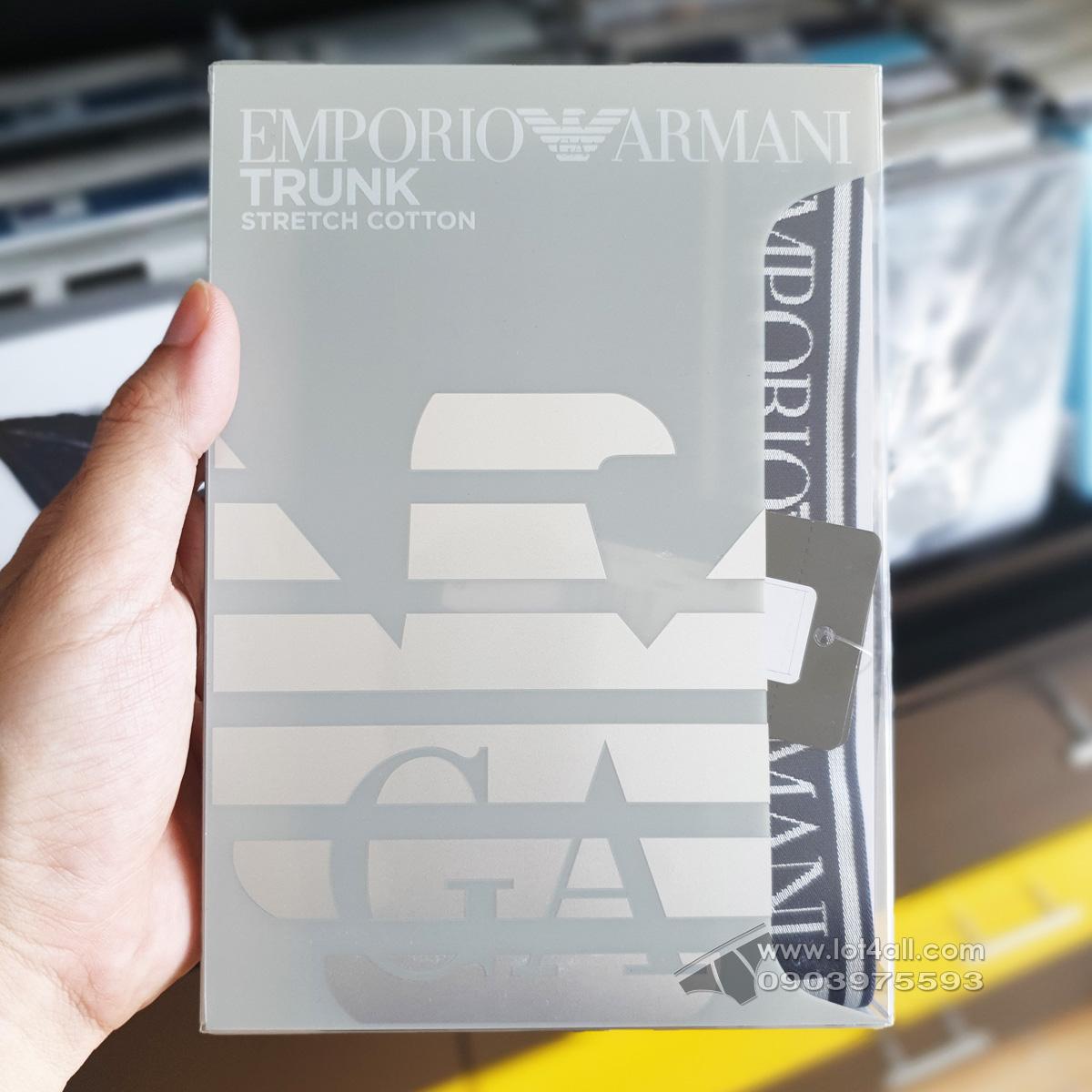 Quần lót nam Emporio Armani Shiny Logoband Trunk Marine