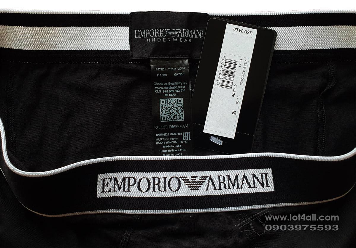 Quần lót nam Emporio Armani The New Icon Trunk Black
