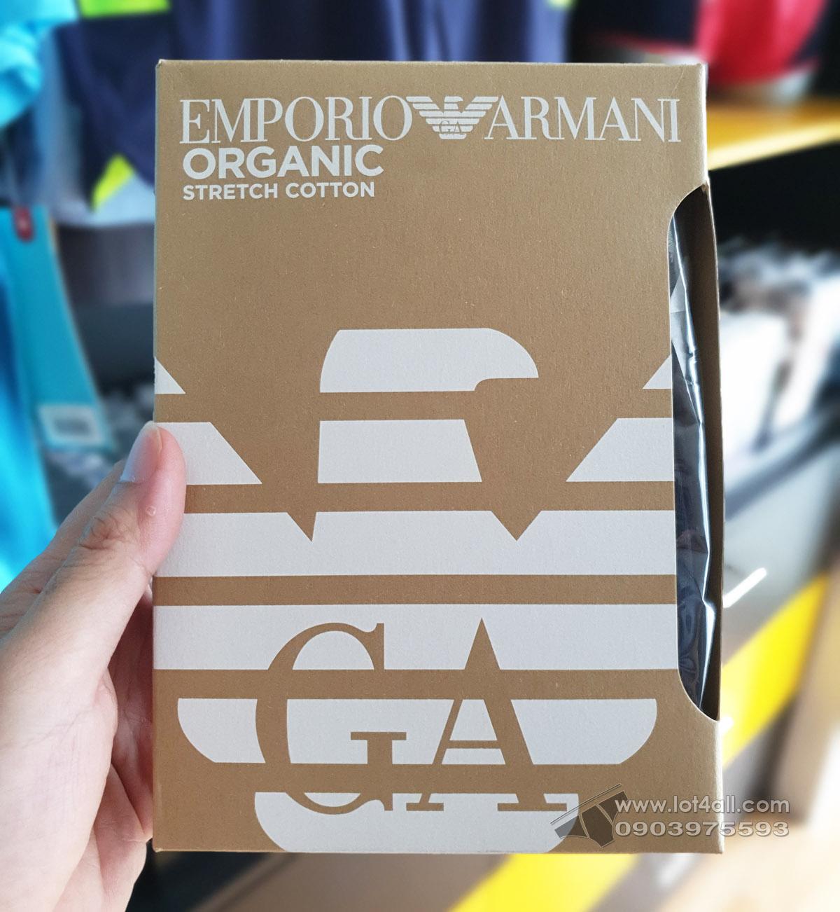 Quần lót nam Emporio Armani Organic Stretch Cotton Trunk Black