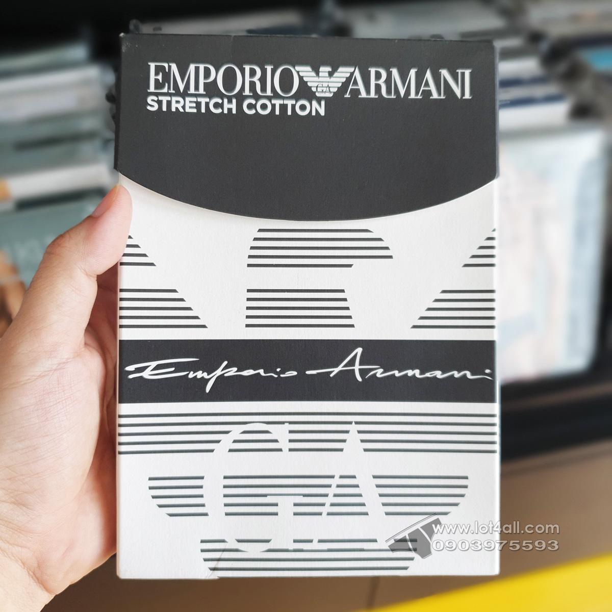 Quần lót nam Emporio Armani Organic Cotton Logo Signature Hip Brief Marine