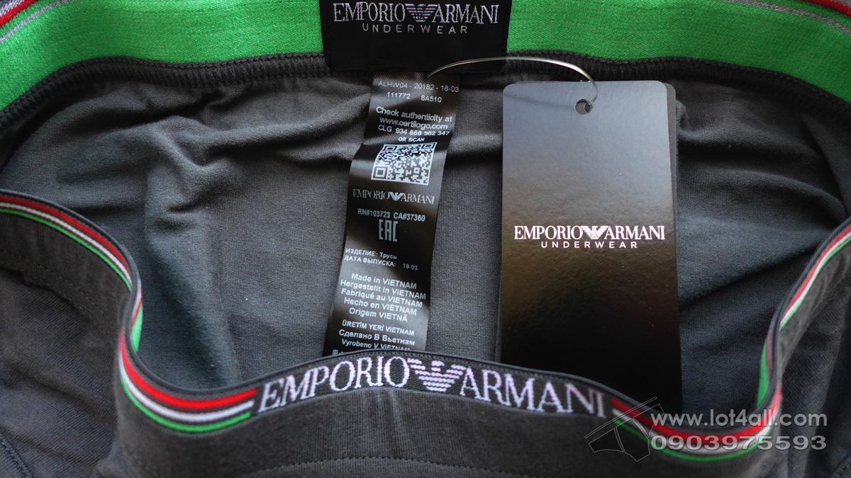 Quần lót nam Emporio Armani Italian Flag Brief Anthracite