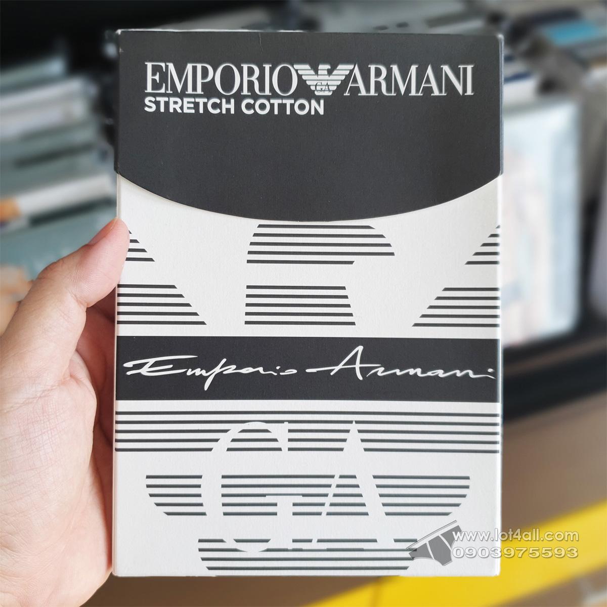Quần lót nam Emporio Armani Organic Cotton Logo Signature Trunk Marine