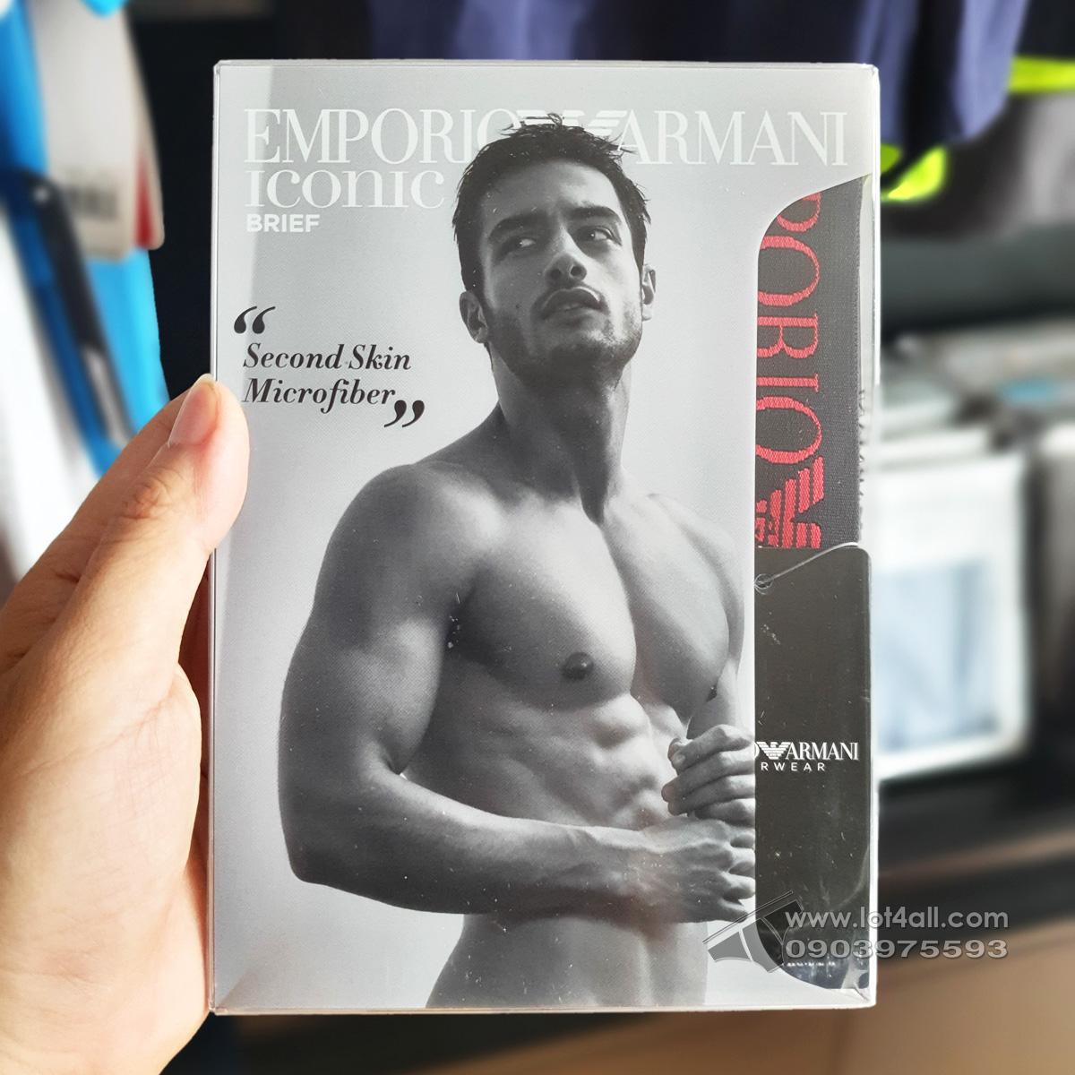 Quần lót nam Emporio Armani Second Skin Microfiber Brief Moon
