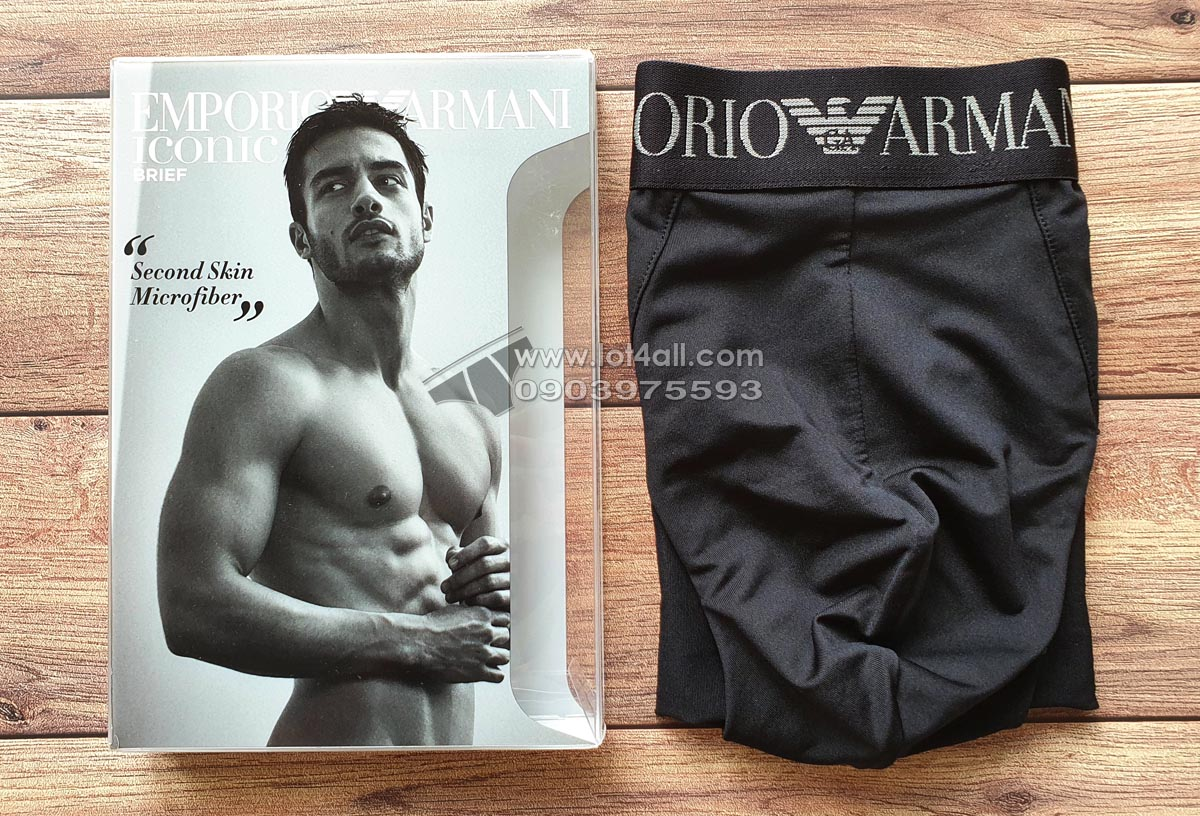 Quần lót nam Emporio Armani Second Skin Microfiber Brief Black