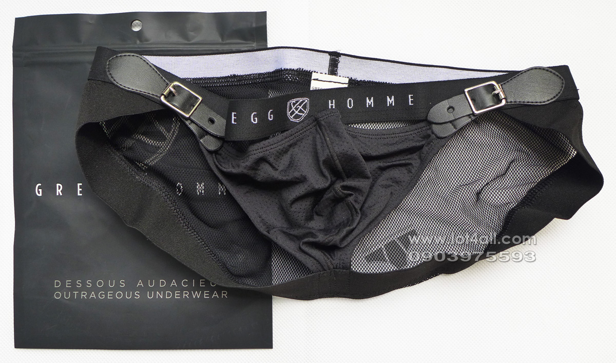 Quần lót nam Gregg Homme Chaser C-Ring Detachable Pouch & Butt Lift Black