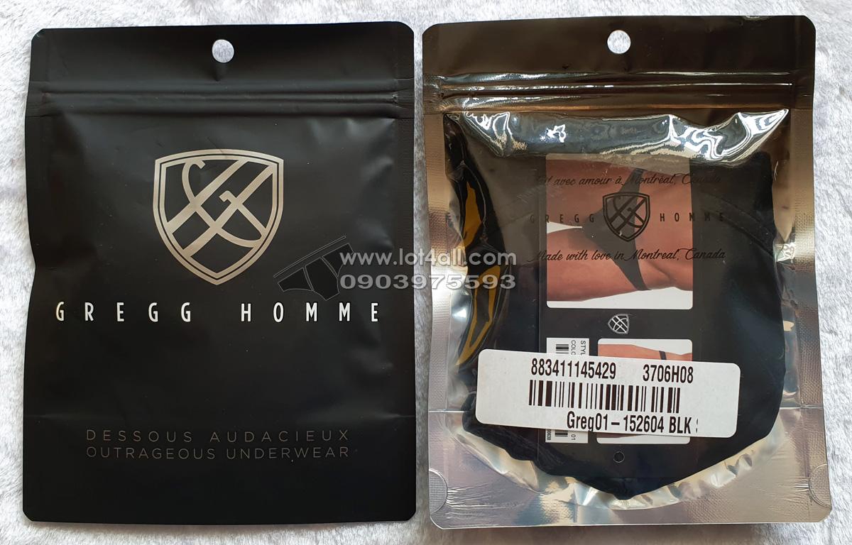 Quần lót nam cao cấp Gregg Homme Crave Faux Leather Thong Black
