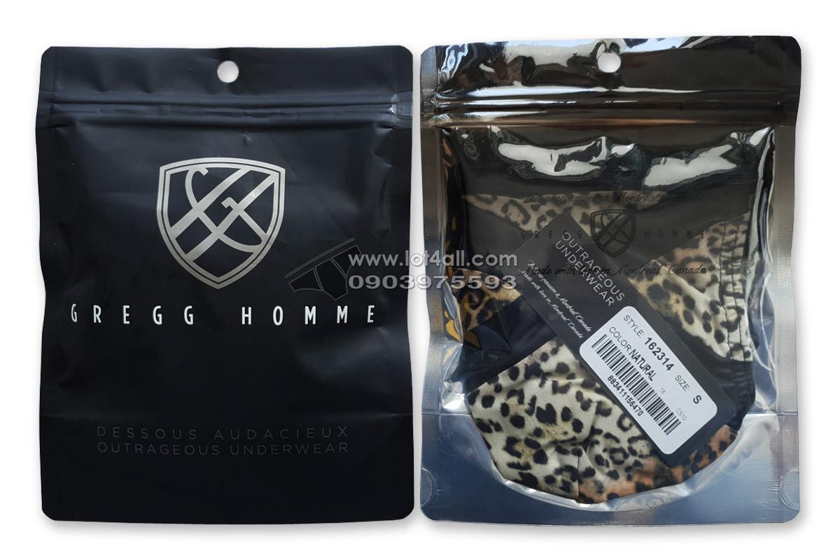 Quần lót nam cao cấp Gregg Homme Captive Pouch Thong Natural Leopard