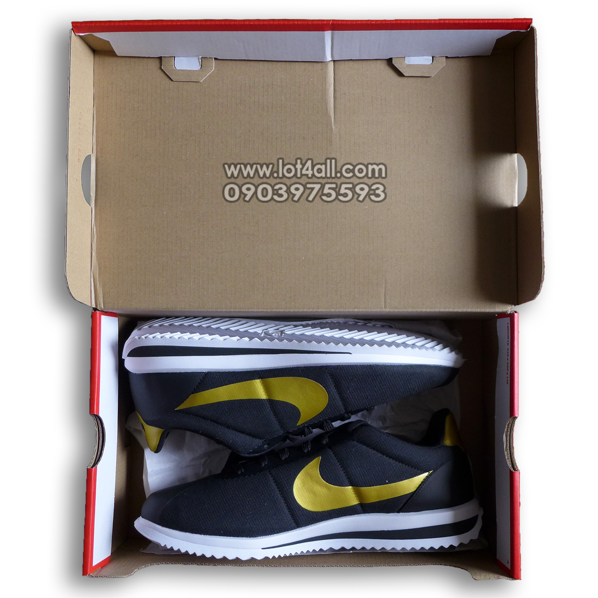 Giày nam Nike Cortez Ultra QS Black Metallic Gold