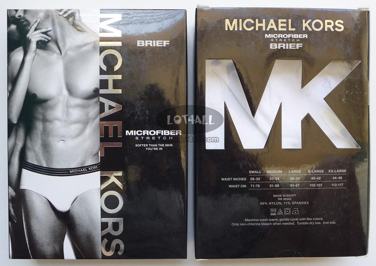 Quần lót nam cao cấp Michael Kors Microfiber Stretch Brief White